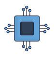 computer chip icon vector image vector image