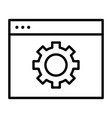computer settings line icon gear pictogram vector image vector image