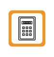 control panel password keys vector image