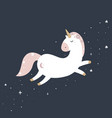cute magical unicorn in pastel colours vector image