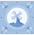 Delft Blue mill vector image vector image
