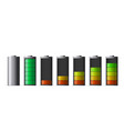 discharged and fully charged smartphone battery vector image