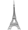 doodle Eiffel tower vector image