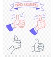 doodle gestures icons set vector image
