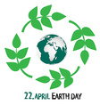Earth Day - 22 April vector image vector image