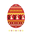 Easter egg with rabbits vector image