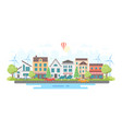 eco-friendly city district - modern flat design vector image vector image