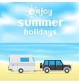 enjoy summer holidays vector image