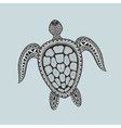 entangle stylized turtle hand drawn aquatic vector image