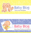 for blog twin babies sleeping baby vector image vector image