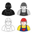foreman icon in cartoon style isolated on white vector image vector image