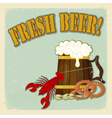 Fresh Beer Menu vector image vector image