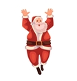 Full length portrait of Santa jumping in delight vector image