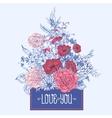 Gentle Retro Summer Floral Greeting Card Vintage vector image vector image