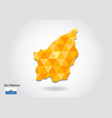 geometric polygonal style map of san marino low vector image