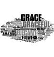 grace word cloud concept vector image vector image