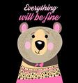Graphic portrait of a funny bear vector image