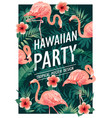 hawaiian party of tropical birds vector image