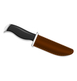 Hunting knife on a white background vector image vector image
