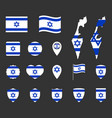 israel flag icons set national flag state of vector image