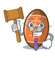 judge rugby ball mascot cartoon vector image vector image