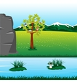 Landscape with river vector image vector image