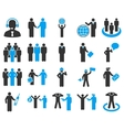 Management and people occupation icon set vector image