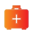Medical First aid box sign Orange applique vector image vector image