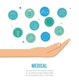 Medical icon set design vector image vector image