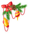 merry christmas decorative element vector image vector image