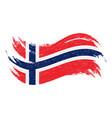 national flag of norway designed using brush vector image