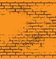 orange grunge brick wall vector image vector image