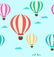 pattern with balloons balloons vector image