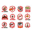 pest control isolated icons cartoon signs vector image vector image