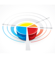 pie-chart graph vector image vector image