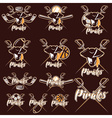 pirates sport teams labels set vector image vector image