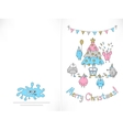 Ready to print Christmas card vector image vector image