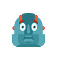 robot scared omg avatar cyborg oh my god emoji vector image vector image