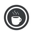 Round black hot drink sign vector image