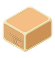 sealed box icon isometric style vector image vector image