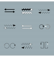 Set of arrows on grey backround vector image vector image