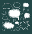 Set of scribble speech bubbles on a green vector image vector image