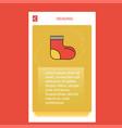 socks mobile vertical banner design design vector image