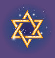 star of david for hanuka vector image