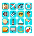 Summer beach travel vacation and tourism vector image vector image