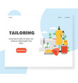 tailoring website landing page design vector image