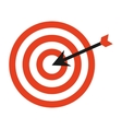 target arrow isolated icon vector image vector image