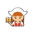 woman traditional oktoberfest germany icon vector image vector image