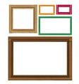 Wooden colored vintage frames vector image