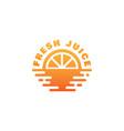 fresh juice logo vector image